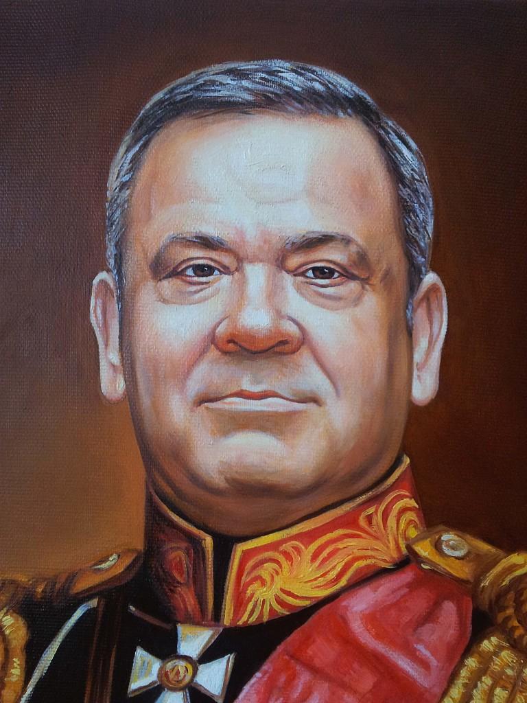 Портрет маслом на холсте в Туле