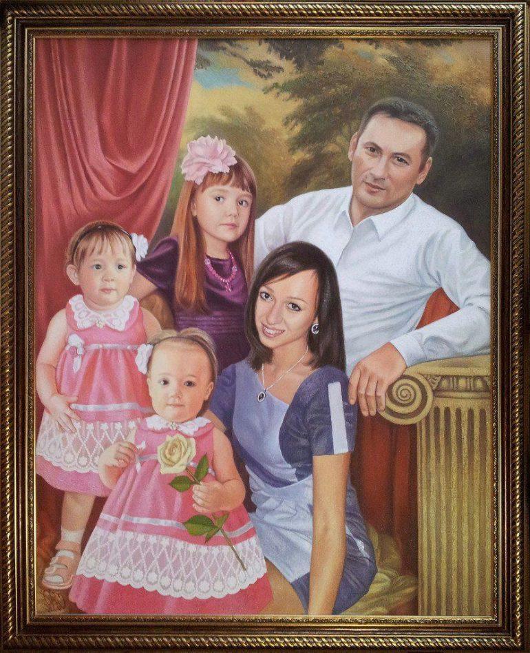 Семейный портрет маслом в Туле — правильная традиция…