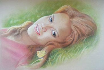 Настоящий портрет пастелью для любимой девушки в Туле, просто и со вкусом!