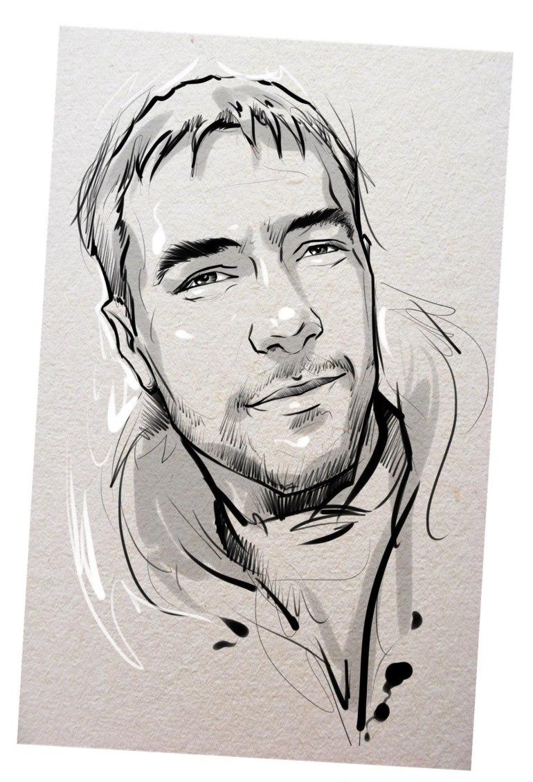 Портрет карандашом любимому мужу в Туле…