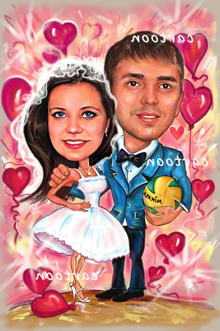 Свадебный шарж с оригинальным сюжетом в Туле!