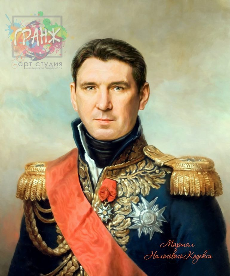Портрет по фото на холсте в подарок мужчине на 23 февраля Тула