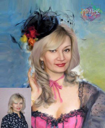 Заказать арт портрет по фото на холсте в Туле…