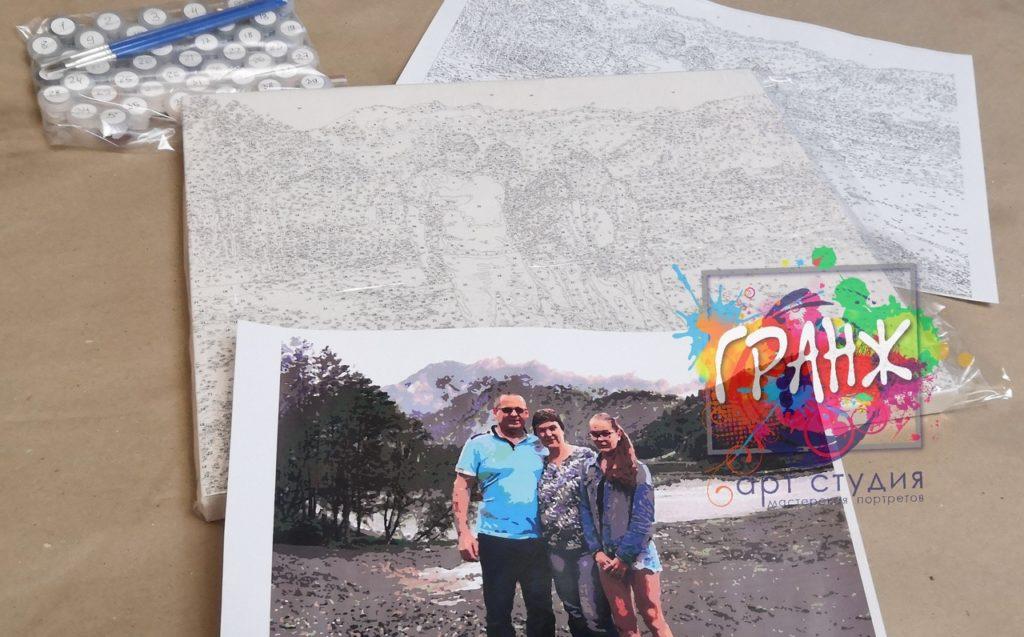картин по номерам на холсте по фото в Туле